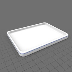 Shallow serving tray