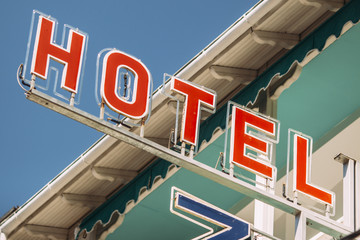 hotel,colorful banner