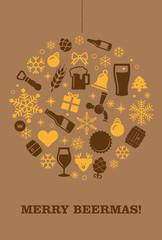 Weihnachtskarte Bier