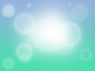 Blue and green bokeh abstract light background