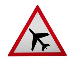 Verkehrszeichen: Flugbetrieb