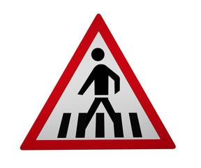 Verkehrszeichen: Fußgängerüberweg