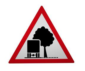 Verkehrszeichen: Unzureichendes Lichtraumprofil