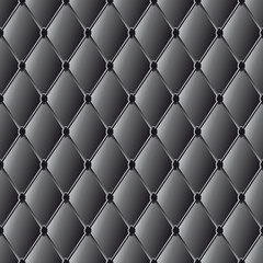 vector drawing of the black  quilted leather