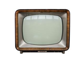 Retro tv isolated on white background.