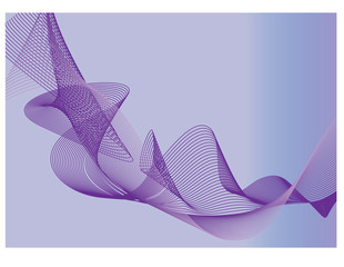 violet abstract background with simple multi curves and soft gradient