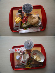 A combination picture shows a fast-food meal at Brazilian fast-food restaurant Bob's in Rio de Janeiro
