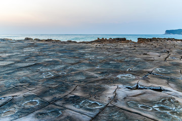 Tessellated Rock Platform Dawn Seascape