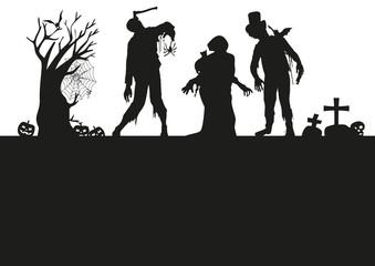 Halloween Silhouetten Background