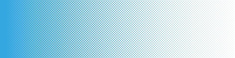 Seamless Screentone Graphics_Halftone Gradation_Blue Square Dots
