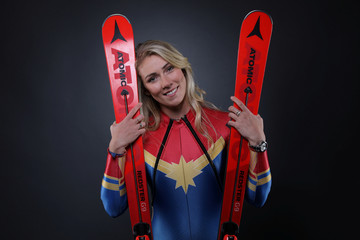 Alpine Skier Mikaela Shiffrin poses for a portrait at the U.S. Olympic Committee Media Summit in Park City Utah