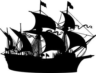 海賊船のシルエット