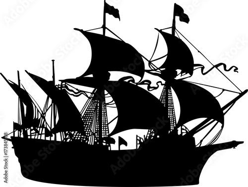 海賊船のシルエットfotoliacom の ストック画像とロイヤリティフリーの