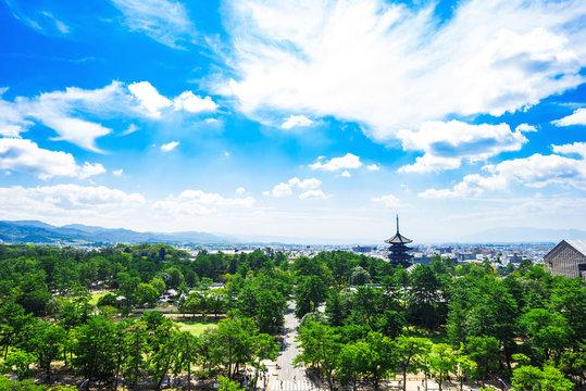 奈良県の街並み 展望