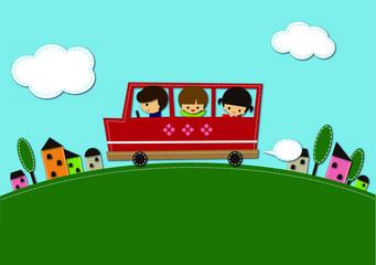 昼の送迎バス