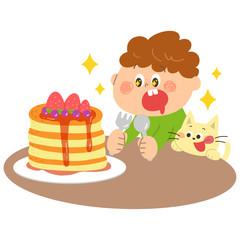 おやつ パンケーキ 子供 男の子