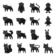 Businesses, ecology, nature, and other web icon in black style.Forest, zoo, farm icons in set collection.