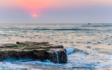 Sunrise Rock Platform Seascape