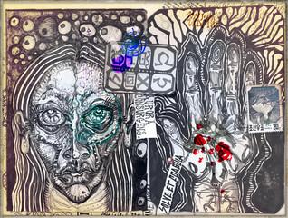 Papiers peints Carnaval Graffiti,manoscritti misteriosi e disegni,alchemici,esoterici e astrologici