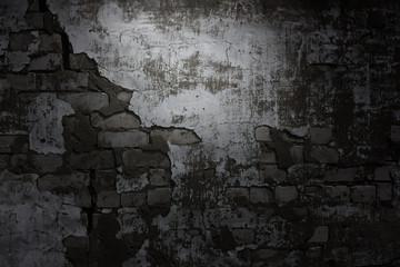 Darck brick wall