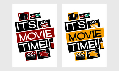 It's Movie Time! (Vector Illustration Poster Design)