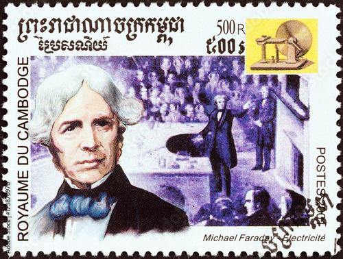 Michael Faraday, electric motor (Cambodia 2001)