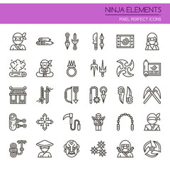 Ninja Elements , Thin Line and Pixel Perfect Icons.