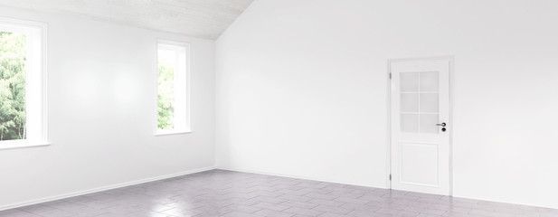 Renovated empty room (panoramic)