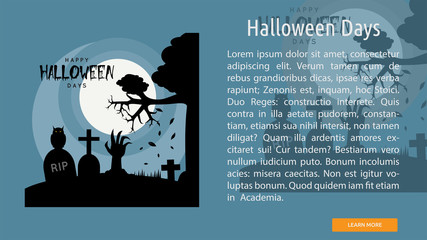 Halloween Days Conceptual Banner