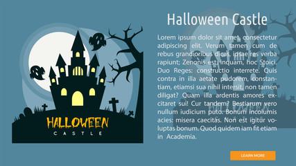 Halloween Castle Conceptual Banner