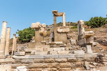 Memmius Monument at Ephesus historical ancient city, in Selcuk,Izmir,Turkey
