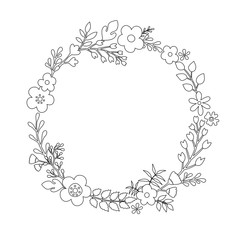 Wreath of wildflowers.
