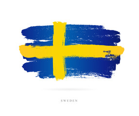 Flag of Sweden. Abstract concept