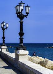 panoramic views of the waterfront of Bari, Puglia - Italy