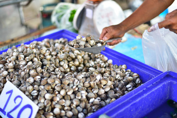Cockle are sold by market.
