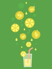 Lemonade Earn Early Coins Illustration
