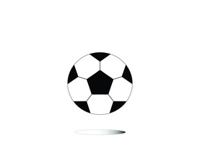 Football on the white background