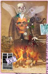 Halloween collage. Manoscritti e disegni macabri,surrealisti e misteriosi