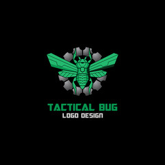 bug military tactical logo vector