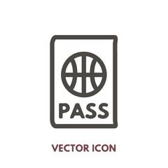 vector doodle passport icon