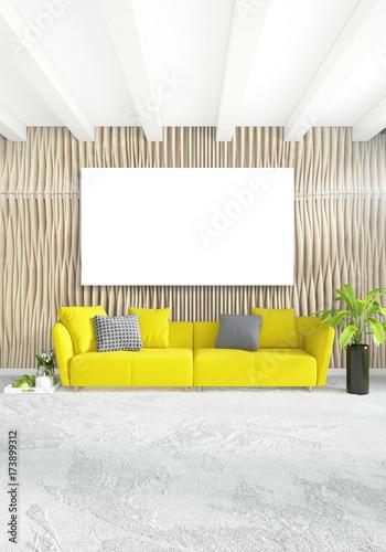 Bedroom Luxury Minimal Sofa Interior Yellow Loft Style Design Modern CerBWQdoEx