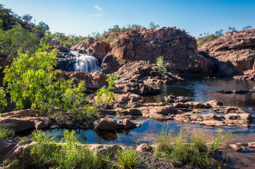 Australian Landscape at Edith Falls on Leilyn Trail along Edith River, in the Nitmiluk National Park , Australia
