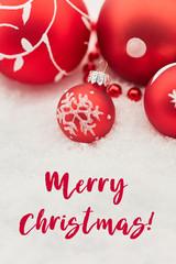 Merry Christmas auf Karte zu Weihnachten