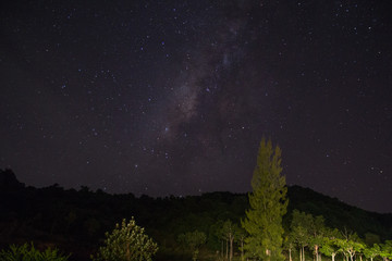 Beautiful night sky / Clearly milky way found in outback.