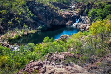 View from above at Bernang Lookout, Edith Falls, Katherine, Australia.