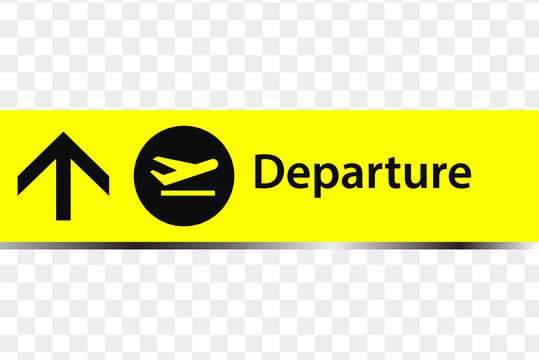 Departure sign in the airport. Departure icon. Departure sign in the airport vector