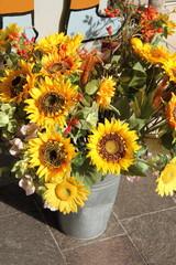 Sonnenblumen im Hochformat