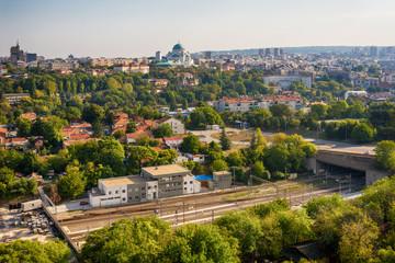 Belgrade, Serbia 23/09/2017: Panorama of Belgrade