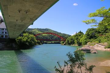 只見川(福島県・柳津町)