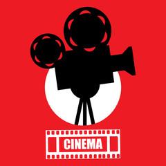 Cinema, movie ticket, movie camera.Vector